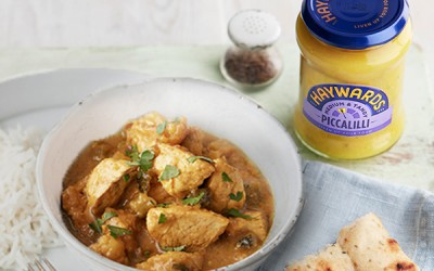 Homemade Indian Curry Recipe with Piccalilli