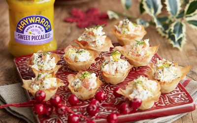 Smoked Salmon & Piccalilli Mini Tarts Recipe