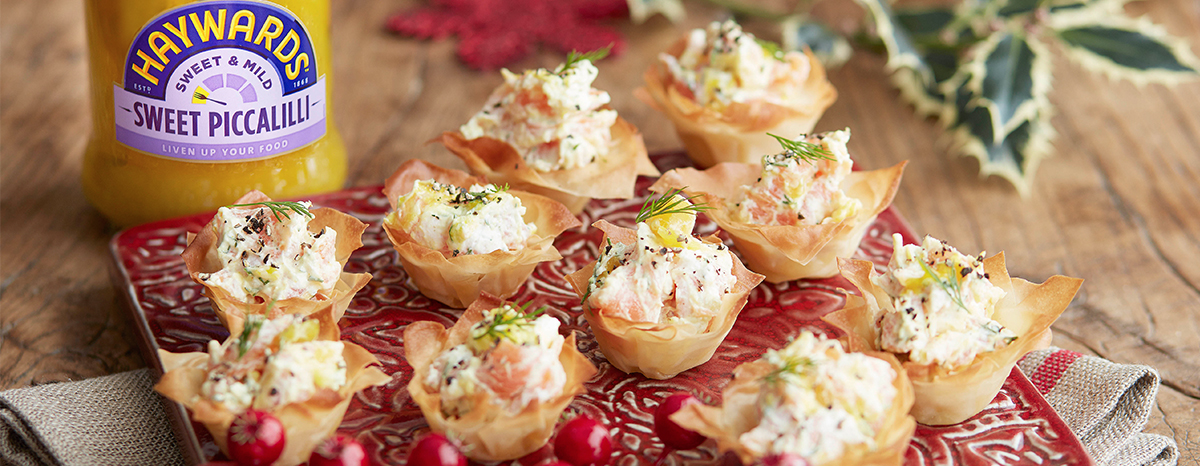 Photo of Smoked Salmon & Piccalilli Mini Tarts Recipe recipe