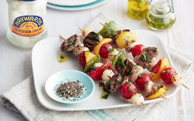 Minty Lamb Kebabs Skewers with Onion Recipe