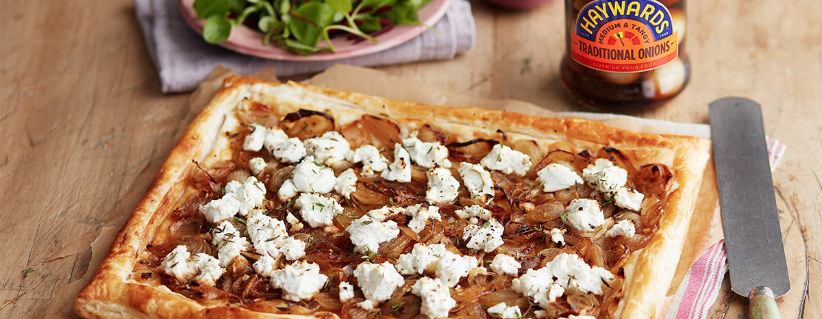 Photo of Goats Cheese & Caramelised Onion Tart recipe