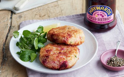 Salmon Fish Cakes Recipe with Beetroot
