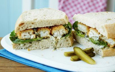 Fish Finger Sandwich Recipe with Tartar Sauce