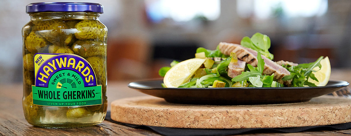Photo of Griddled Tuna Salad with Gherkin Dressing recipe