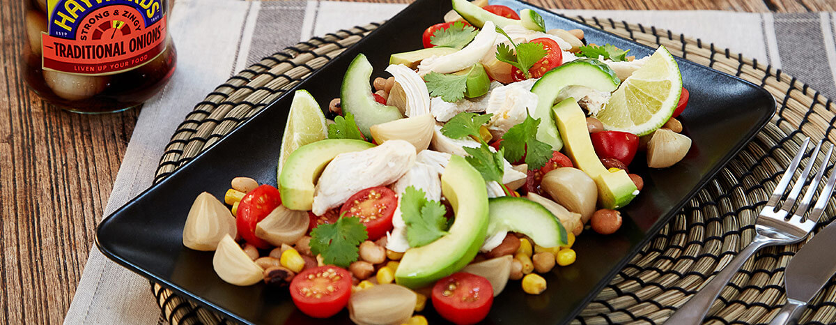 Photo of Mexican Warm Chicken Salad Recipe with Beans recipe
